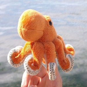 Z3826 Small Plush Toy Octopus Finger Puppet