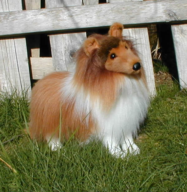 Large Stuffed Sheltie Dog 18 Stuffed Standing Sheltie