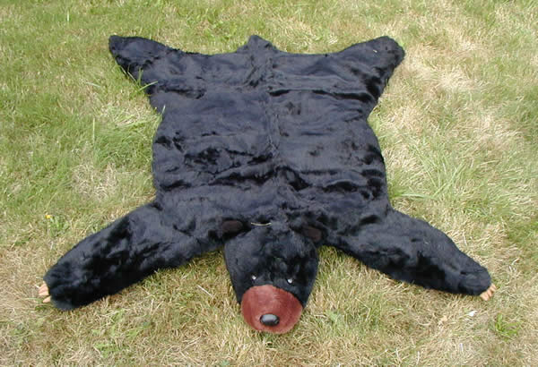 Black Bear Skin Rug – Faux Fur Plush Black Bear Rug |