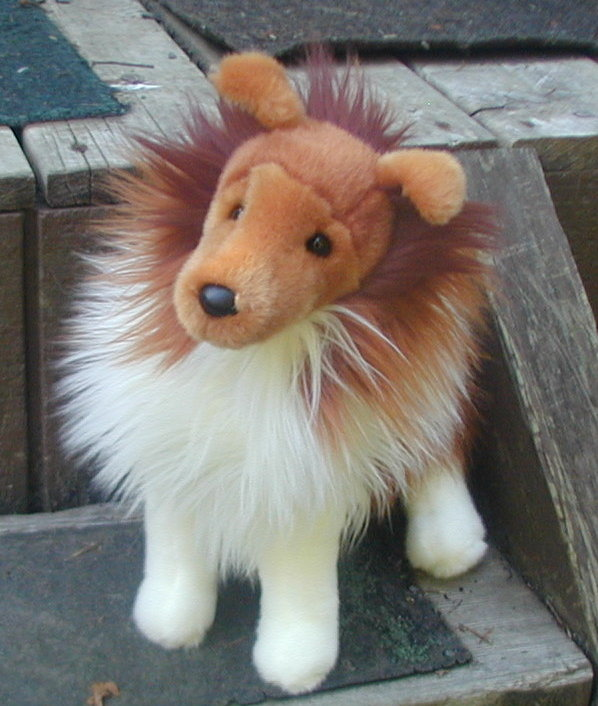 Sheltie Stuffed Animal Dog 16 Whispy Sheltie Dog