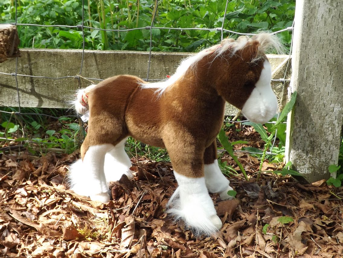 D291-Plush-Clydesdale-Horse-Stuffed-Toy-Animal