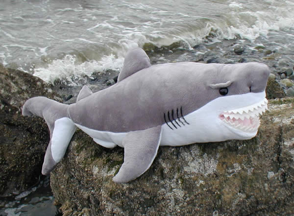 Great White Shark Stuffed Animal 25 Plush Toy Shark