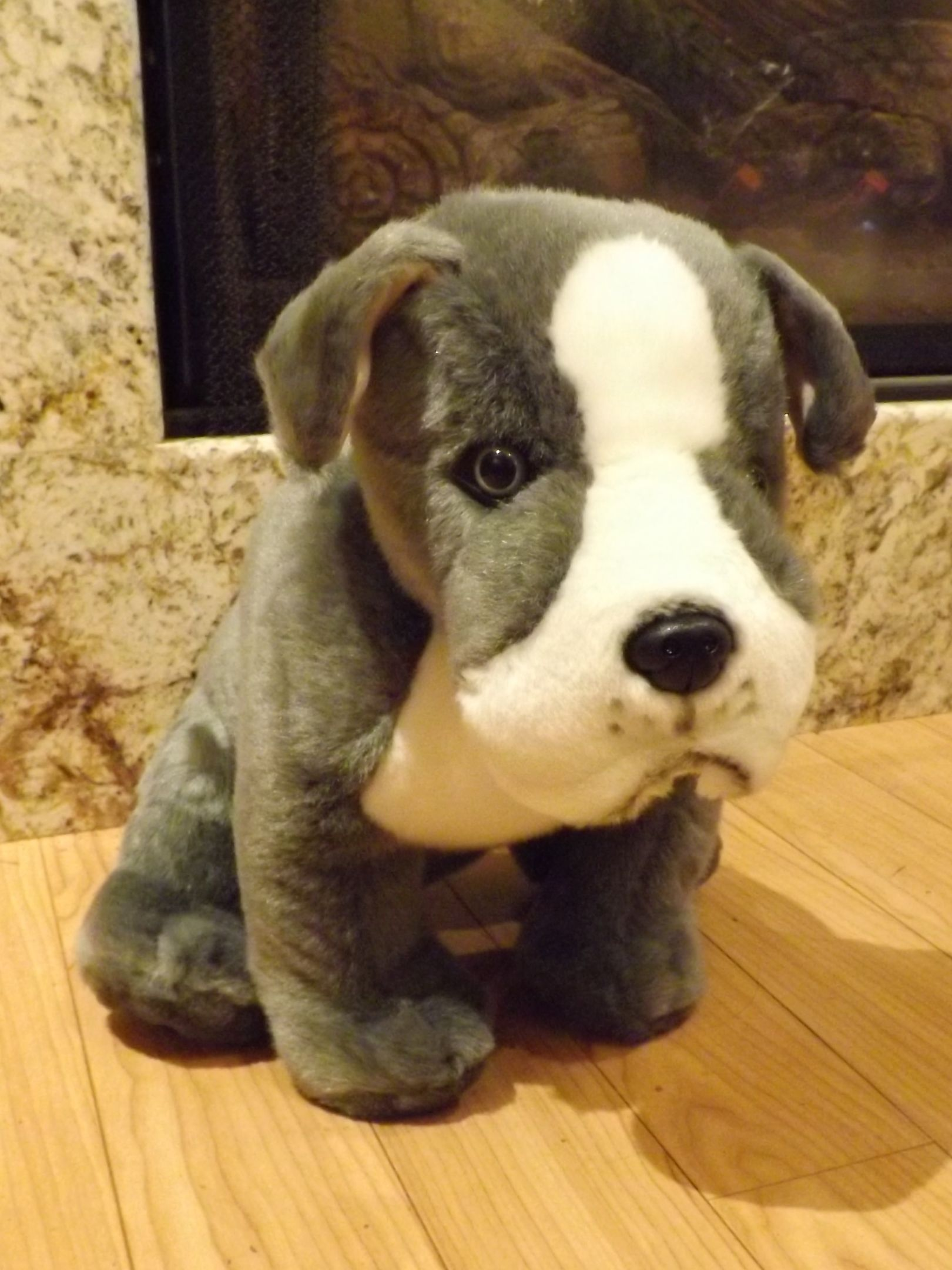 Pitbull Stuffed Animal Dog – Big Plush Toy Pitbull Terrier 16″