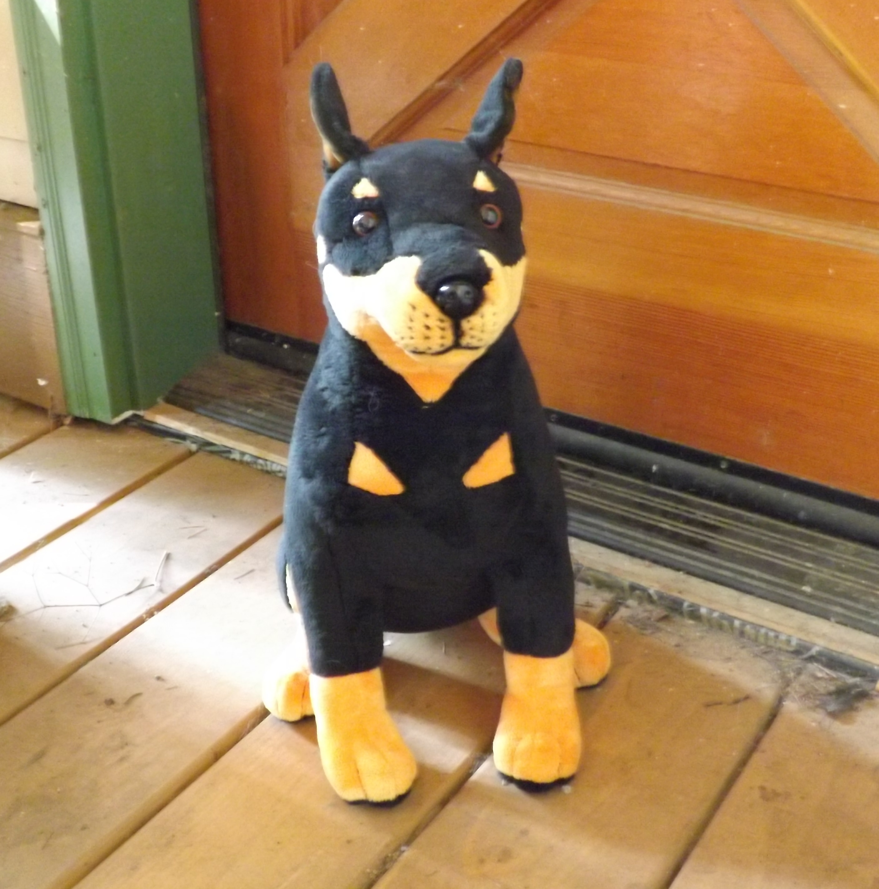 Stuffed Doberman Pinscher