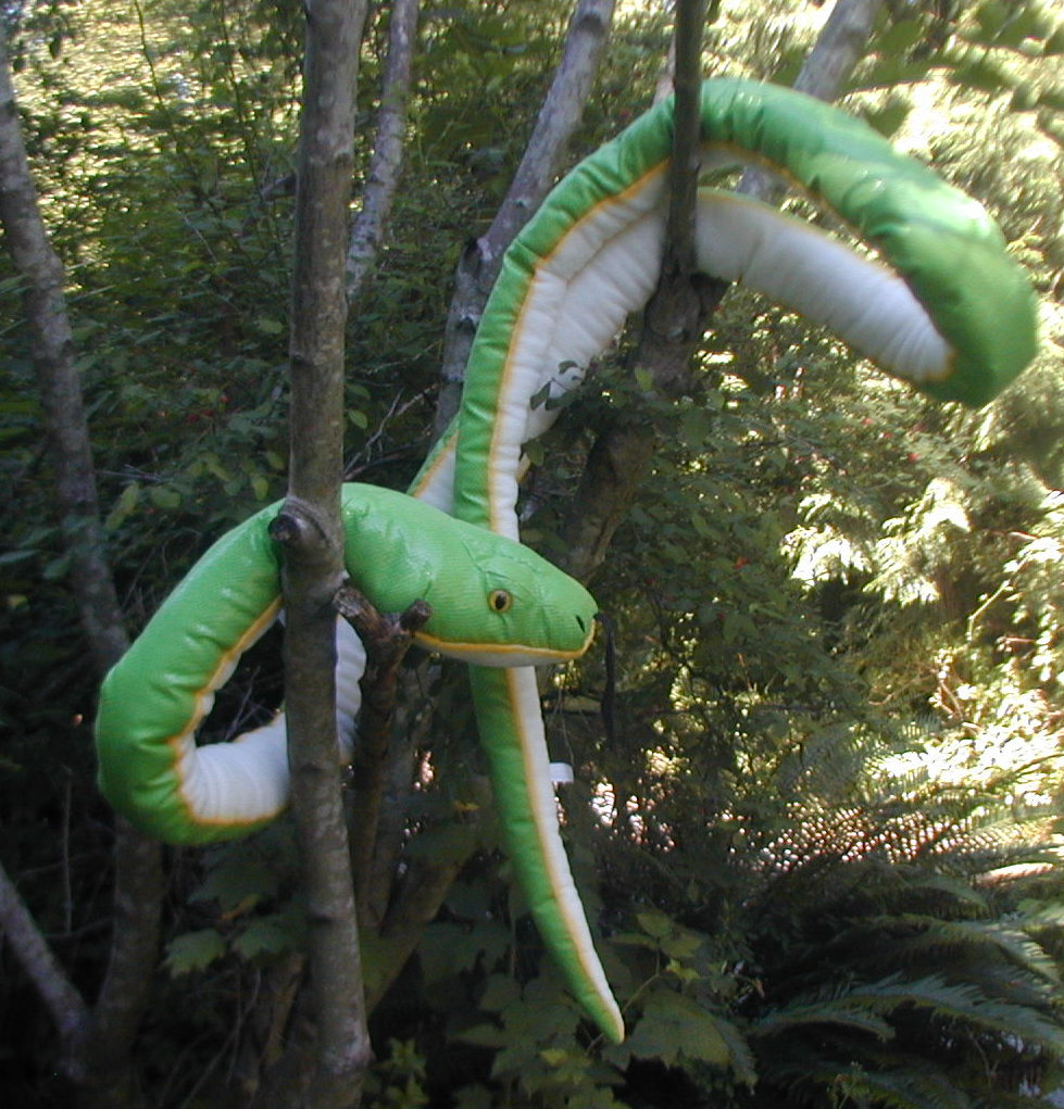 large green tree python stuffed snake